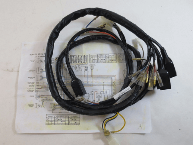 Vintage Motorcycle Wiring Harness : Kawasaki main wiring harness z johnny s